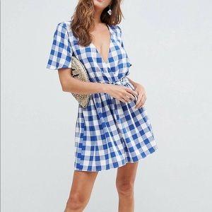 Asos gingham beach dress